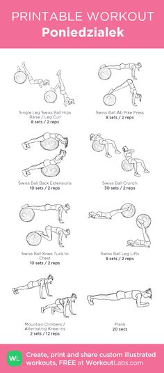 Poniedzialek:my visual workout created at WorkoutLabs.com • Click through to customize and download as a FREE PDF! #customworkout