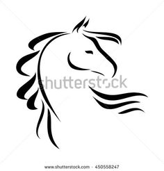 stylized figure of a horse