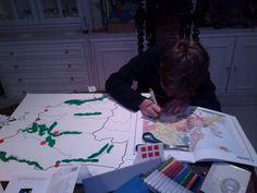 Como fabricar un mapa Montessori de España casero: