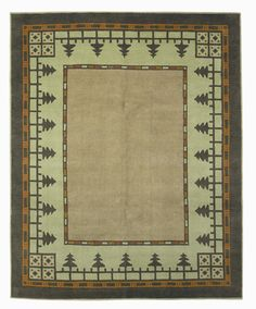Craftsman Pine Forest Meadow , Craftsman Collection Tiger Rug Co., Mission Rugs