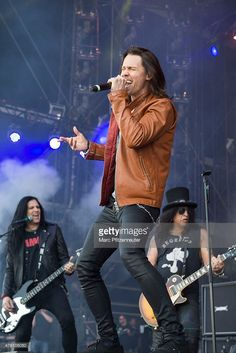 Myles Kennedy of Slash feat. Myles Kennedy and the Conspirators performs on stage during the second day of 'Rock am Ring' at the Flugplatz Mendig on June 6, 2015 in Mendig, Germany.