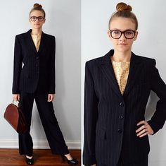 A personal favorite from my Etsy shop https://www.etsy.com/ca/listing/266818031/vintage-armani-collezioni-navy-blue-pin