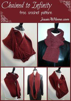 free #crochet infinity scarf pattern