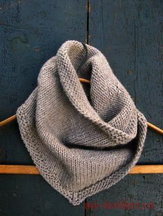 Sweet Stitching with Erin: Bandana Cowl - The Purl Bee - Knitting Crochet Sewing Embroidery Crafts Patterns and Ideas! From purl bee.what a great site! Knitting Patterns Free, Knit Patterns, Free Knitting, Free Pattern, Knitting Scarves, Finger Knitting, Knitting Tutorials, Knitting Machine, Simple Knitting Projects