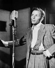American singer Frank Sinatra (1915–98) in 1947, at the Liederkrantz Hall in New York. Sinatra began his career in 1935, reaching unprecedented success after being signed by Columbia Records in 1943. After a lull in the late 1940s, his career regained new vigor in the 1950s.