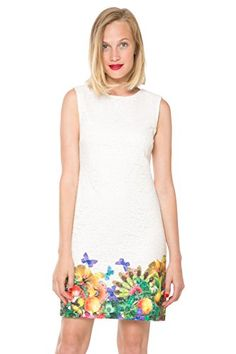 Desigual Women's Woven Dress Straps 7, White, 42