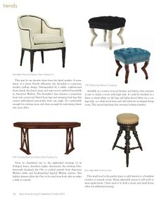 'Starring Trends from a Designer's Perspective' article I wrote featuring Oct 2013 #hpmkt trends for Texas Home & Living Oct 2013 issue