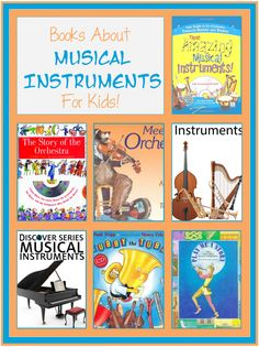 Check out the newest post (Books About Musical Instruments for Kids) on 3 Boys… Musical Instruments For Toddlers, Music For Toddlers, Music Lessons For Kids, Preschool Music, Preschool Books, Teaching Music, Preschool Themes, Toddler Books, Childrens Books