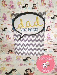 Dad you rock Greeting Card by PrincessMooGifts on Etsy You Rock, Dads, Greeting Cards, Unique Jewelry, Handmade Gifts, Etsy, Kid Craft Gifts, Craft Gifts, Fathers