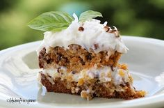 This gluten-free Dreamy Carrot Cake with classic Cream Cheese Frosting from Gluten-Free Spinner is a sight to behold and absolutely delicious!  [featured on GlutenFreeEasily.com]