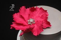 """**TUTORIAL** Fast Statement Flower ready in 24 hours -  flower measure aprox 6""""across - Ciccio Cakes on facebook"""