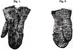 Translation of a German article discussing a fabric mitten from Akranes, and a naalbinded mitten from Arneiðarstaðir, Iceland.
