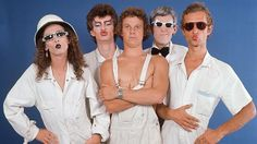 """Long before Boy George, Mylie Cyrus and Lady Gaga there was Skyhooks. Formed in Melbourne in '73 the lead singer was Graeme """"Shirley"""" Strachan. Red Symons also sang, played base, behaved outrageously, wore lots of make up, and stuck out his tongue, a lot! Hits included Horror Movie, Living in the '70's, Ego is not a dirty word, Women in Uniform, All my friends are getting married. Skyhooks disbanded in 1980. Shirley Strachan was tragically killed in a helicopter crash in 2001 at age 49."""