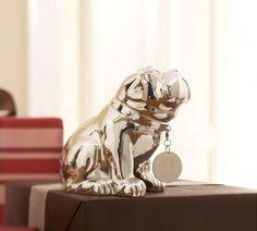 Bulldog Coin Bank by Pottery Barn