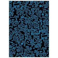Pop-Shop.com Keith Haring Black with Blue Line Figures Journal