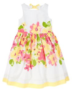 Sunny Floral Blooming Flowers Dress Girls 3-12 years