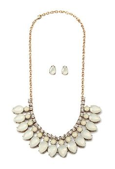 Teardrop Necklace and Stud Set | Forever 21 - 1000156907