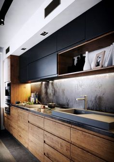 If you are looking for Minimalist Kitchen Design Ideas, You come to the right place. Below are the Minimalist Kitchen Design Ideas. Kitchen Room Design, Kitchen Cabinet Design, Kitchen Layout, Home Decor Kitchen, Interior Design Kitchen, Kitchen Ideas, Kitchen Designs, Kitchen Inspiration, Rustic Kitchen