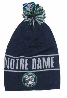 Notre Dame Fighting Irish NCAA Adidas Long Knit Ball Top Beanie Hat by  NCAA.  17.99 1ef24e5c50ed