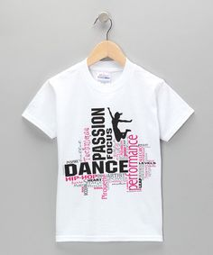 Take a look at this White Dance Collage Tee - Girls & Women by Dance World Bazaar on #zulily today!