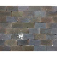 Zellige Tile Pink Grey 15cm x 7.5cm