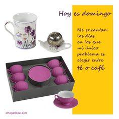 Hoy es domingo. Me encantan los días en los que mi único problema es elegir entre té o café. elhogarideal.com