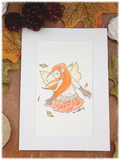 Ooak Hand painted water colour Autumn themed greetings card. Greeting Cards, My Arts, Hand Painted, Colours, Autumn, Watercolor, Ink, Unique Jewelry, Handmade Gifts
