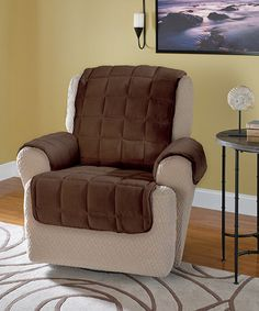 Chocolate Square Recliner Cover #zulilyfinds & Fleece Recliner Covers NATURAL BROWN OR BURGUNDY CHAIR COVER SLIP ... islam-shia.org