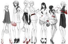 red and heels by hakuku.deviantart.com on @deviantART - From left to right: Liechtenstein, Hungary, Belarus, Ukraine, Taiwan, Seychelles, Belgium....very fashionable
