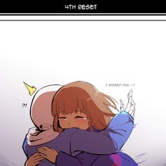 In which Frisk is just glad to see sans after timeline hopping – some not-so-fun timelines