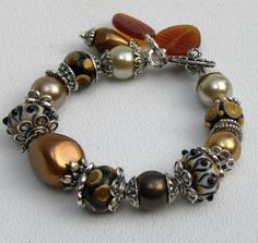 Autumn Handmade Beaded Bracelet by bdzzledbeadedjewelry on Etsy, $35.00