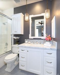 Bathrooms sell homes, give it a modern clean look!