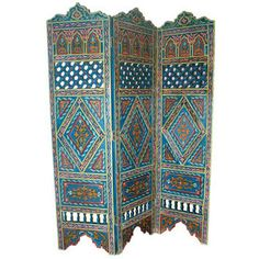 Painted Wooden Screen