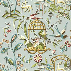 Thibaut (Pattern: Providence, Collection: Serendipity, Colorway: Aqua)