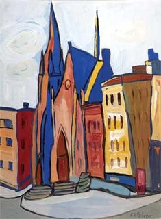 colorful painting of a church William H Johnson, Henry Johnson, Harlem Renaissance Artists, Renaissance Artworks, African American Artist, American Artists, Mary Cassatt, Hieronymus Bosch, Canadian Art