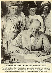 Women's Suffrage: August 18, 1920 – The Nineteenth Amendment to the United States Constitution is ratified, guaranteeing women's right to vote.