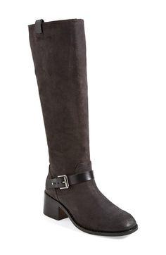 rag & bone 'Norton' Knee High Leather Boot (Women) Asphalt Suede Size 11US / 41EU on Vein - getVein.com