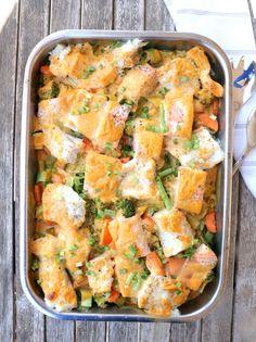Kreolsk fiskeform - LINDASTUHAUG Pasta Salad, Shrimp, Nom Nom, Food And Drink, Meat, Dinner, Baking, Ethnic Recipes, Drinks