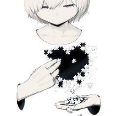 Pick up the pieces and build up your heart Dark Anime, Dark Art Illustrations, Illustration Art, Anime Girl Drawings, Sad Drawings, Anime Artwork, Arte Obscura, Vent Art, Sad Pictures