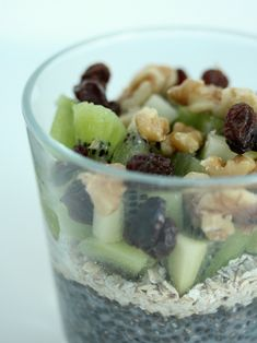 Chia pudding met kiwi en havermout - I Love Health Healthy Breakfast Recipes, Healthy Recipes, No Sugar Challenge, Kiwi, Chia Pudding, Breakfast Time, Oatmeal, Fruit, Lunch