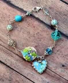 Bracelet Broken China Jewelry Broken China by Robinsnestcreation1