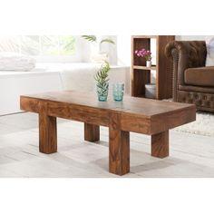 Table basse design en bois massif acacia Sensei 100 cm