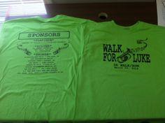 Luke Isacson Walk shirts.  Good cause.  This Saturday at 8 at the Brewton Medical Center.