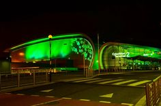 If you're passing through Dublin Airport this weekend you'll certainly notice its change in colour. The buildings at the airport are going green for St Patrick's Day!    The buildings will be bathed in green light every evening from tonight (Wednesday) until next Tuesday to celebrate St Patrick's Day and The Gathering 2013.