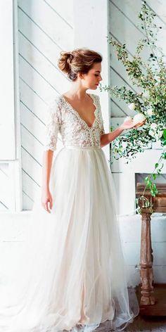36 Vintage Inspired Wedding Dresses ❤ See more: http://www.weddingforward.com/vintage-inspired-wedding-dresses/ #wedding