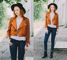 Get this look: http://lb.nu/look/7716538  More looks by Kristina Magdalina: http://lb.nu/user/913504-Kristina-M  Items in this look:  Stylemoi Jacket, Wholesale Jeans   #boho #casual #street