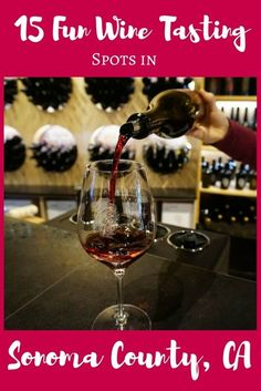 Sonoma wineries are a great pick to try local Northern California wines. Find a list of my 15 favorites for your upcoming visit. Napa Valley Wineries, Sonoma Wineries, Napa Winery, Sonoma California, California Wine, Northern California, California Travel, California Style, Wine Finder