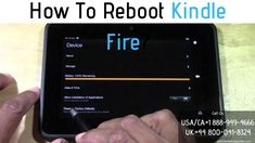 Rebooting a Kindle device will help you to fix a lot of problems. Check out a detailed guide on how to reboot Kindle Fire? Or Call to to know more! Kindle Screen, Broken Screen, Fire Tablet, Amazon Kindle Fire, Simple Words, Fix You, Wifi, Connect