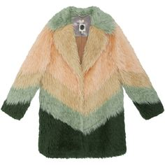 Orsina Fur Coat (1'150 CHF) ❤ liked on Polyvore featuring outerwear, coats, jackets, coats & jackets, beige coat, beige fur coat and fur coat