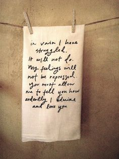 oh, Mr. Darcy...